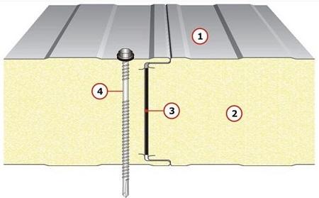 Stěnový PUR panel s přiznaným zámkem